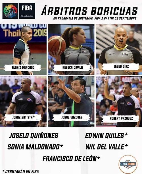 Nuevos Arbitros FIBA 2019